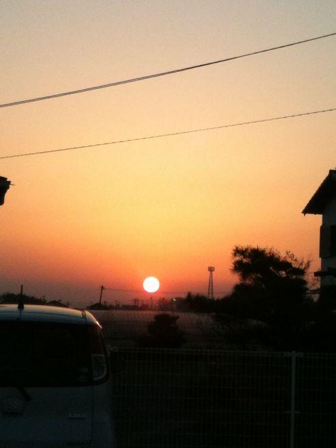 夕陽がキレイw