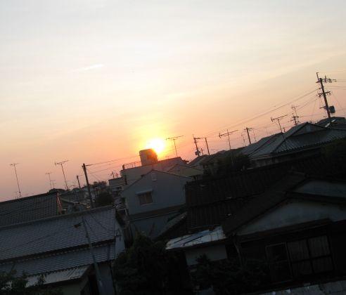 沈む夕陽2