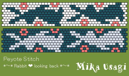 peyote stitch looking back
