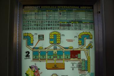 ホノルル空港マップ