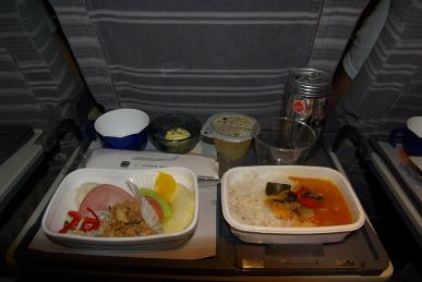 行き機内食
