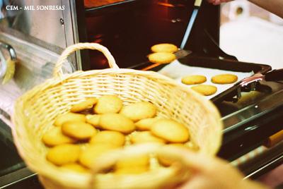 galletas de naranja y te