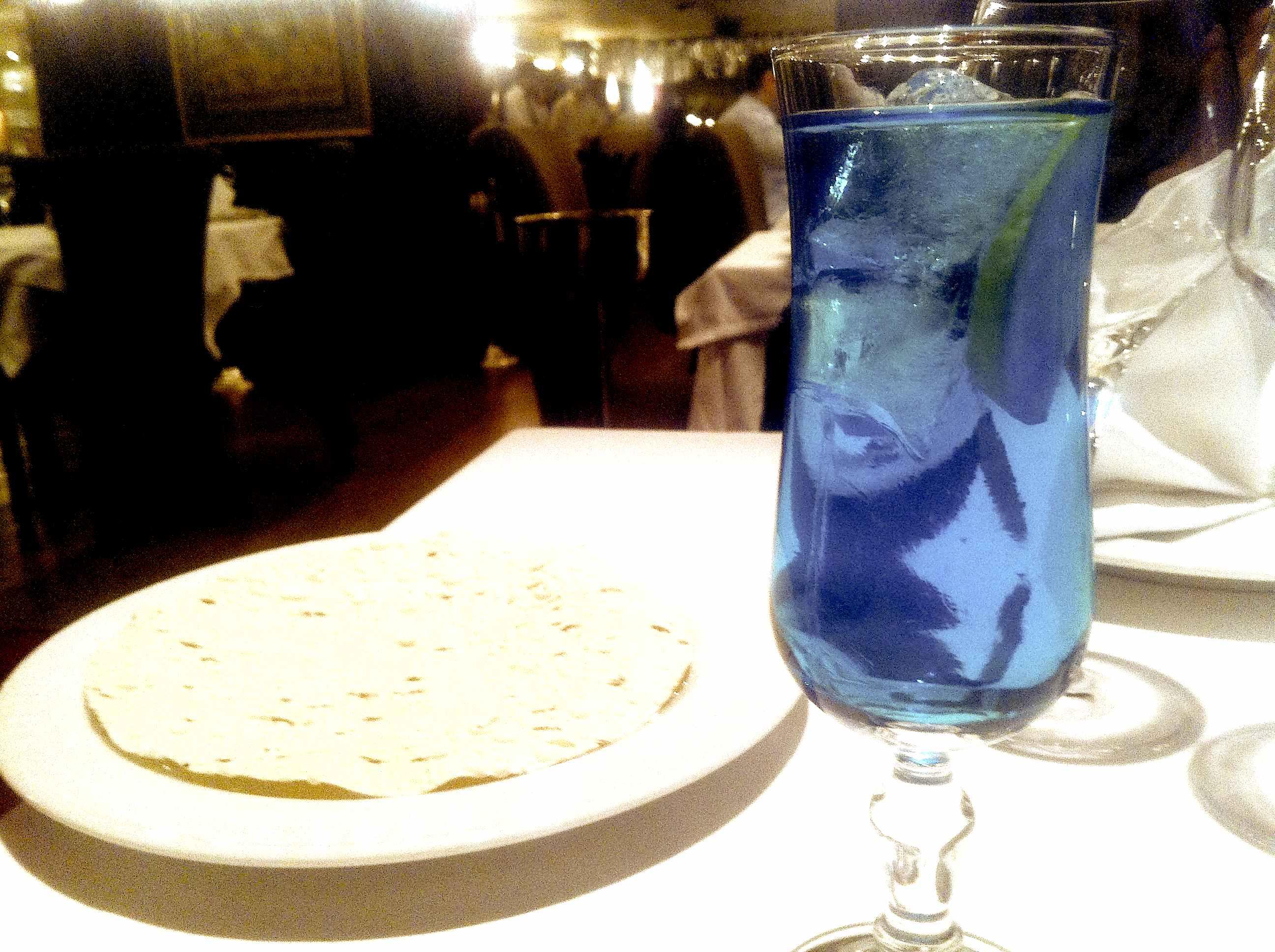 青い飲み物