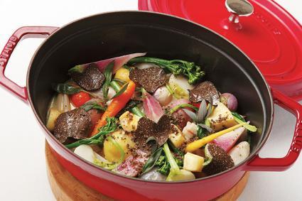 「根菜のトリュフ鍋」