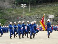 2011.3.6 新居浜消防観閲式・別子分団分列行進