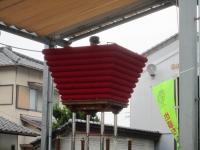 2011.6.12 新居浜駅フェスティバルの松木坂井太鼓台の解体中