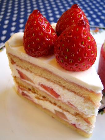 『フレンチパウンドハウス』の苺のショートケーキ