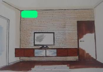 TV台-エアコン