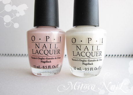 OPI#H19 Passion(パッション)/OPI#H29 Time-less Is More(タイムレス イズ モア)