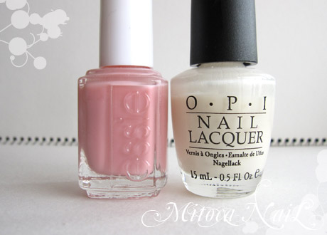 essie#543 My Private Cabana(マイ・プライベート・カバナ)/OPI#H29 Time-less Is More(タイムレス イズ モア)