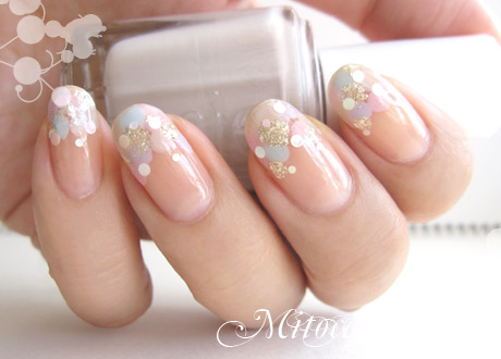 純銀キラキラ★水玉ネイル