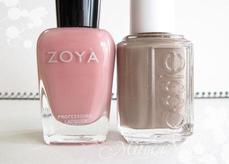 Zoya#ZP244 Mia/essie#766 Glamour Purse(グラマーパース)
