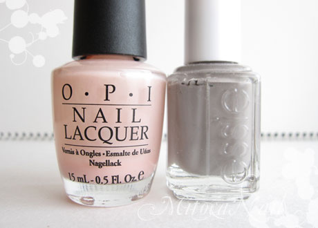 OPI#H19 Passion(パッション)/essie#696 Chinchilly(チンチリー)