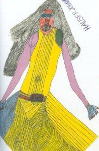 黄色いドレスの女