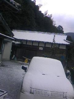 今朝の雪景色!