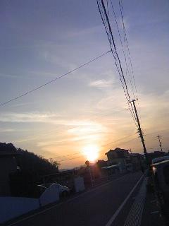 今日の夕焼け!