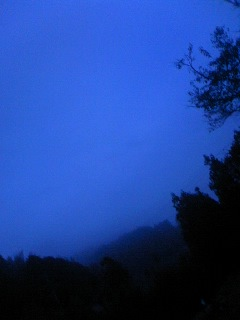 霧の夕空!