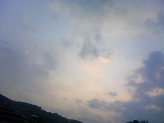 今日の夕空!