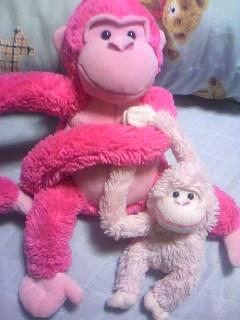 ピンクのゴリラ君たち!