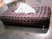 石畳み編み ティッシュケース