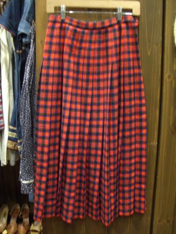 PENDLETON 赤ロングスカート