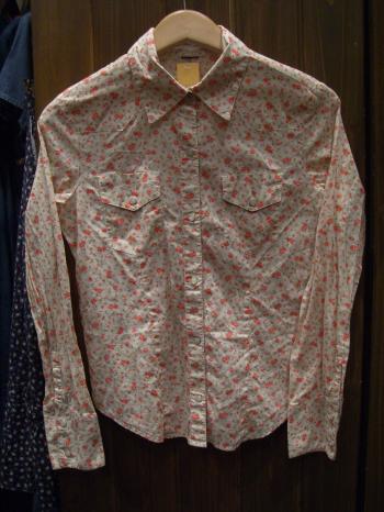 ウエスタン花柄シャツ
