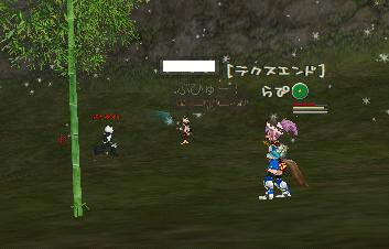 らぴ:竹筒収穫