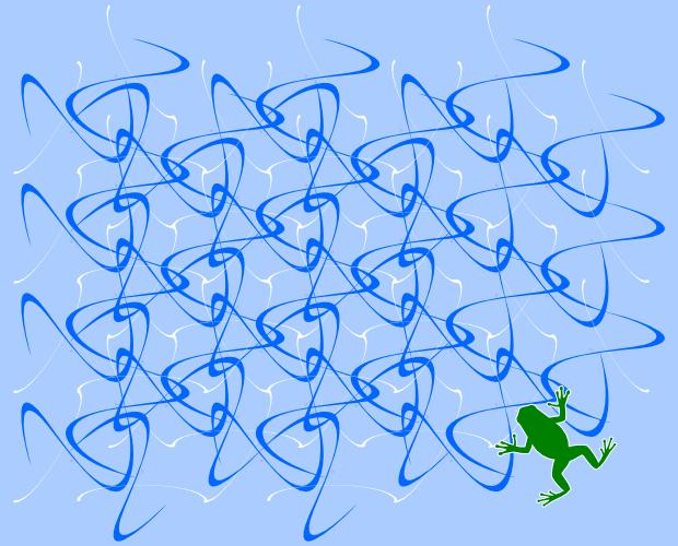 ギャラリー画像9_水面を泳ぐカエル