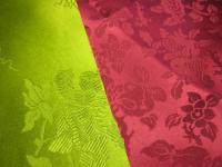 花模様とザクロ模様のヤンダン(絹)
