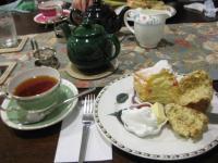 キッシュとミルフェと紅茶