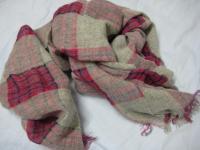 麻入りのスカーフ