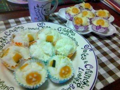 10月30日  ハロウイン蒸しケーキ