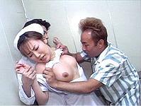 【無修正】密室エレベーターでナースを襲う医師と患者!