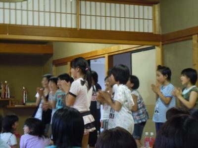 平成23年  7月3日  八小女子ミニバス打ち上げ。 012