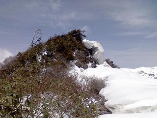 剣ケ倉山付近