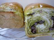 抹茶小豆パン