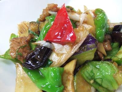2011_0729茄子と豚肉、大葉の醤油炒め