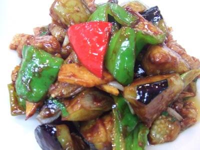 2011_0731茄子と豚肉、大葉の甘味噌炒め