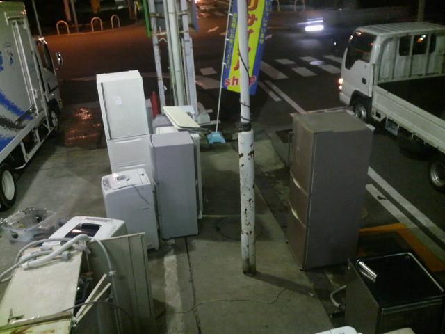 冷蔵庫、洗濯機(山)
