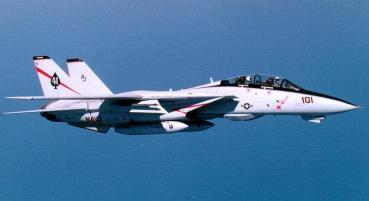 VF-41 F-14A(コールサイン「FAST EAGLE102」機体No.160403 ヘンリー・クリーマン中佐、デイブ・ベンレット大尉 「FAST EAGLE107」機体No.160380 ラリー・マクジンスキー大尉、ジム・アンダーソン中尉