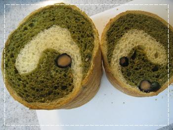 抹茶ラウンドパン