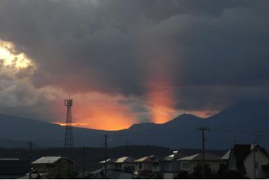 山が燃えてる090911