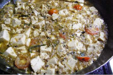 麻婆豆腐味噌仕立てトマト入り