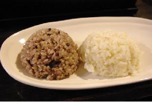 黒米と玄米