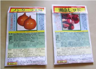 固定種玉ねぎ2種