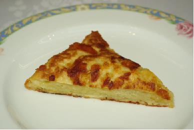 長いもとチーズのお好み焼き