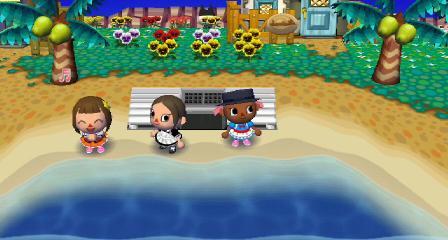 海辺のベンチで休憩