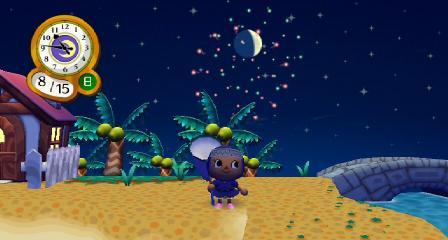 花火を見る