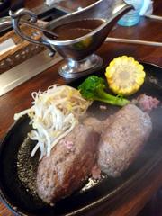 菊池の焼肉の一休でお肉屋さんのハンバーグ定食♪