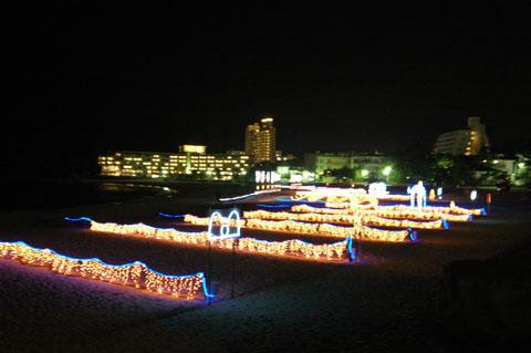 南紀白浜のライトアップ